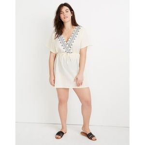 Madewell Embroidered Tie-Back Cover-Up  Dress